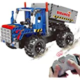 STEM Learning Kit | Truck Construction Toys with Remote Control, Cool Educational Engineering Building Set for Boys And Girls