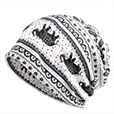 KISSTYLE 帽子 メンズ レディース ニット帽 薄手 オールシーズン トライバル柄