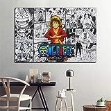 ワンピースアニメポスターとプリント壁アート画像キッズキャンバスの壁の絵画Decorativos男の子寝室研究室アート-6…