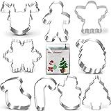 "Christmas Cookie Cutter Set-3.5""3""-9 Piece-Gingerbread Men, Snowflake, Reindeer, Angel, Christmas Tree, Snowman, Santa Face a"