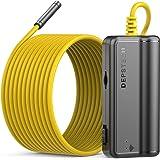 DEPSTECH WiFi Borescope, 5.0MP HD Wireless Endoscope, Semi-Rigid, 16 inch Focal Distance, Snake Inspection Camera with 2600mA