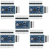 Aideepen 5個 Arduino Pro mini 3.3V/8MHzミニ 互換性のある開発ボードATMEGA328P搭載改良版、Nano V3.0 CH340Gモジュール基板水晶発振器ピン付きATmega128互換ボードArduino用マイク