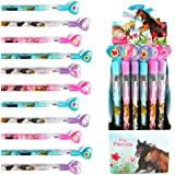 TINYMILLS 24 Pcs Horse and Pony Multi Point Pencils