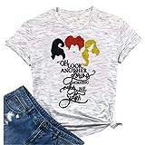 HRIUYI Plus Size Halloween Hocus Pocus Shirts Women Oh Look Another Glorious Morning Makes Me Sick Top Tee Shirt