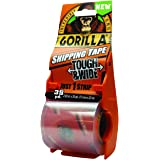 """Gorilla Packing Tape Tough & Wide with Dispenser for Moving, Shipping and Storage, 2.83"""" x 35 yd, Clear (Pack of 1)"""