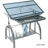 SD STUDIO DESIGNS 10060 Avanta Top Adjustable Drafting Craft Drawing Hobby Table Writing Studio Desk with Drawers, 42'' W x 2