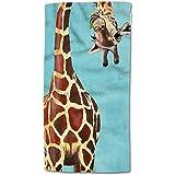 HGOD DESIGNS Giraffe Hand Towels Funny Giraffe Licking Head Soft Hand Towel for Bathroom Kitchen Yoga Gym Decorative Towels 1