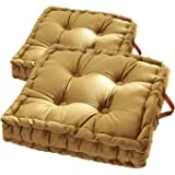 Square Thick Floor Cushion Pillows,Tufted Padded Boosted Floor Pillow Cushion Seating with Carrying Handle Tatami Indoor Outd