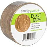 Simply Genius (Single Roll) Patterned Duct Tape Roll Craft Supplies for Kids Adults Colored Duct Tape Colors, Light Wood Grai