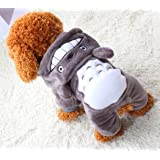 Xiaoyu Puppy Dog Pet Clothes Hoodie Warm Sweater Shirt Puppy Autumn Winter Coat Doggy Fashion Jumpsuit Apparel, Grey, S