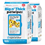 Petkin Petwipes – Big 'n Thick Extra Large Pet Wipes for Dogs and Cats – Cleans Face, Ears, Body and Eye Area – Super Conveni