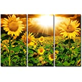 Canvas Print Wall Art Painting for Home Decor Bright Sunflower Yellow Sunshine 3 Pieces Panel Paintings Modern Artwork The Pi