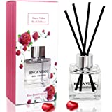binca vidou Rose Reed Diffuser Set, Scented Oil Diffuser with Rattan Sticks for Bedroom Bathroom Office Home Fragrance Gift 5