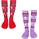 Kalakids Ski Socks Kids 1 Pack / 3 Pack Winter Warm Snowboard Thermal Socks For Boys Girls Toddlers (3-13 Years Kids Xs/S)