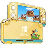 DLseego Protective Case for Nintendo Switch Lite, Hard PC Clear Anti-Shock Split Cover for Animal Crossing Design