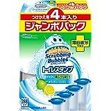 トイレ掃除 トイレ洗剤 スクラビングバブル トイレスタンプ 漂白成分プラス 付け替え用 ジャンボパック (4本入り×1) 4本セット 24スタンプ分 ホワイティーシトラスの香り まとめ買い 洗浄剤 消臭