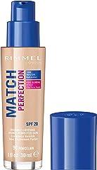 Rimmel London Match Perfection Foundation, 090 Porcelain, 123 grams