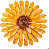MDLUU Metal Flower Wall Art, 12-Inch Flower Wall Sculpture, Indoor Outdoor Hanging Decor for Garden, Yard, Living Room, Bedro