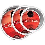 "Last Confection 3-Piece Round Cake Pan Set - Includes 4"", 6"" and 8"" Aluminum Pans 2"" Deep"