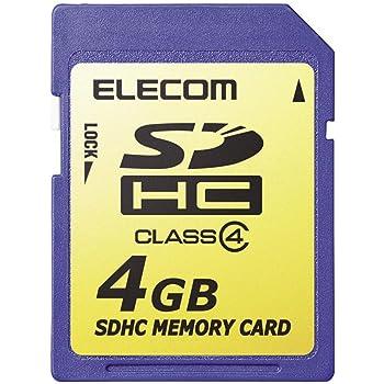 エレコム SDHCカード 4GB Class4 NINTENDO 3DS動作確認済み MF-FSDH04G