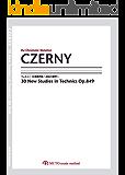 ツェルニー30番練習曲~技法の練習~,CZERNY Op.849 3線譜,クロマチックノーテーション