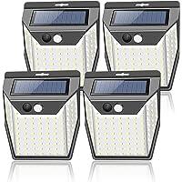 センサーライト ソーラーライト 屋外 99LED 4個セット 2021年新版 人感センサーライト 3面発光 3つ知能モー…