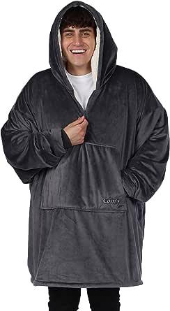 THE COMFY 着る毛布 着るブランケット フード ポケット付き フリーサイズ メンズ レディース 冷え対策 防寒 保温