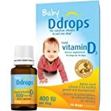 Ddrops 1072834 400 IU Liquid Vitamin D3 Drops for Babies, 0.08 Fl. Oz (Pack of 2)