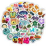50pcs Summer Stickers for Water Bottles, VSCO Stickers for Hydro Flask Phone Travel Skateboard, Laptop Stickers for Teens Gir