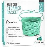 Silicone Steamer Basket Compatible With Instant Pot, Ninja Foodi Pressure Cookers 5-Qt 6-Qt 8-Qt - Silicon Steam Strainer Ins