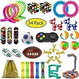 ZCOINS Rainbow Ball Puzzle Fidget Pad Magic Cube Snake Cube Flippy Chain Mesh Elastic Ball Stress Relief Fidget Sensory Toys