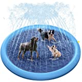 Raxurt Dog Pool, 67 Inch XXL Splash Sprinkler Pad for Dogs Thickened Durable Upgrade Bath Pool Pet Summer Outdoor Water Toys