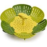 Joseph Joseph Bloom Steamer Basket Folding Non-Scratch BPA-Free Plastic and Silicone, Green
