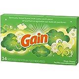 柔軟剤 ゲイン シート柔軟剤 オリジナル 34枚 GAIN 乾燥機用柔軟シート 日用品 アメリカ雑貨 アメリカン雑貨