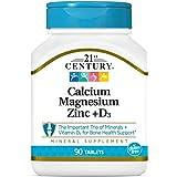 21st Century Health Care カルシウム マグネシウム 亜鉛 ビタミンD3, 90錠