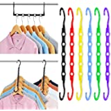 Magic Hangers Space Saving Clothes Hangers Organizer Smart Closet Space Saver Pack of 12 with Sturdy Plastic for Heavy Clothe