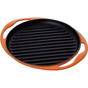 ルクルーゼ グリル ロンド ホーロー フライパン IH 対応 25cm オレンジ 20125-00-09