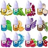 Soap Making Scents - Set of 12 Premium Grade Fragrance Oils - Baked Milk, Coffee, Hawaii, Lavender, Melon, Mint, Ocean, PEAR