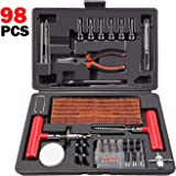 ORCISH 98Pcs Tire Repair Plug Kit Heavy Duty Flat Tire Repair Kit Universal Tire Repair Tools & Tire Repair Set for Car Motor