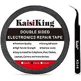Kaisiking 2mm LCD Repair Tape Phone Repair Tape LCD Touch Screen Repair Tape Phone Screen Adhesive Tape with 1 Tweezers for C
