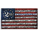 This We'll Defend 2nd Stars & Stripes Flag 3 ft by 5 ft Designed in USA 3x5 Vintage American Flag Patriotic Decor Wall Art Ma