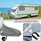 Silvotek Universal Caravan Hitch Cover - Waterproof Tow Hitch Cover with Durable 210D Material,Grey Trailer Hitch Covers (Siz