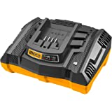 INGCO バッテリー充電器 20V 急速充電 過電流保護 過充電保護 過電圧保護 過熱保護 LEDインジケータ 作業用 現場用 FCLI2003J