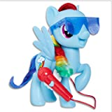 "Hasbro E1975 My Little Pony - Singing Rainbow Dash - 8"" Electronic Doll - Songs & Phrases - Interactive Kids Toys - Ages 3+,B"