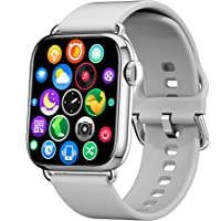 KOMOI スマートウォッチ ストップウォッチ 1.7インチ大画面腕時計 カスタムダイヤル 活動量計 歩数計 天気表示…