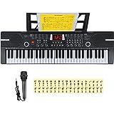 Hricane Kids Keyboard Piano, 61 Keys Beginner Electronic Keyboard, Portable Digital Music Keyboard, Early Education Music Ins