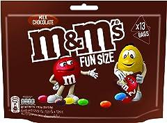 M&M'S Milk Chocolate Funsize, 175.5g