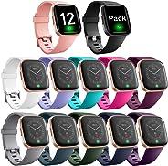Ouwegaga Bands Compatible with Fitbit Versa/Versa 2/Versa Lite/Versa 2 SE Water Resistant Fitness Straps for Women Men Multi
