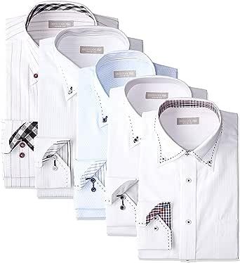 [ドレスコード101] ワイシャツ 福袋 5枚セット 好印象を与えるデザイン 形態安定 透けにくい 中身がわかる Yシャツ ビジネス FUKU-5 メンズ