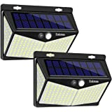 Enkman Solar Lights Outdoor 208 LED,Wireless Motion Sensor Lights with 270° Wide Angle IP65 Waterproof for Deck Fence Post Do
